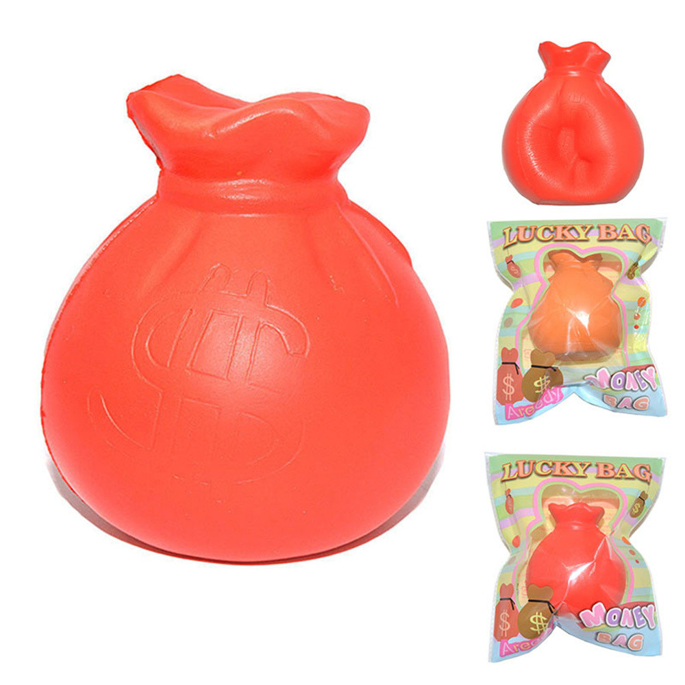 Coin Bag Squeeze Toy Squishy Slow Rising Decompression Squeeze Toys Poopsie Slime Surprise High Quality W718