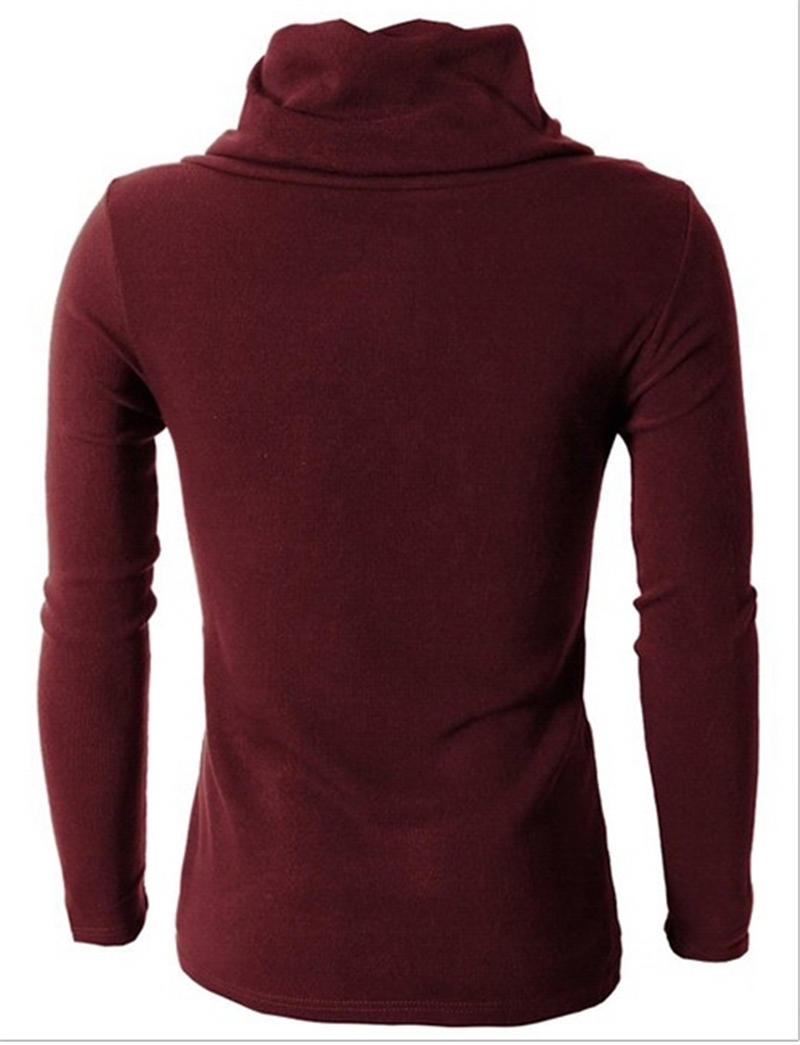 Casual Sweater Men Pullovers Brand Long Sleeve Turndown Collar Slim Knitwear Sweaters Black Red Fight Color Stripe Sweater