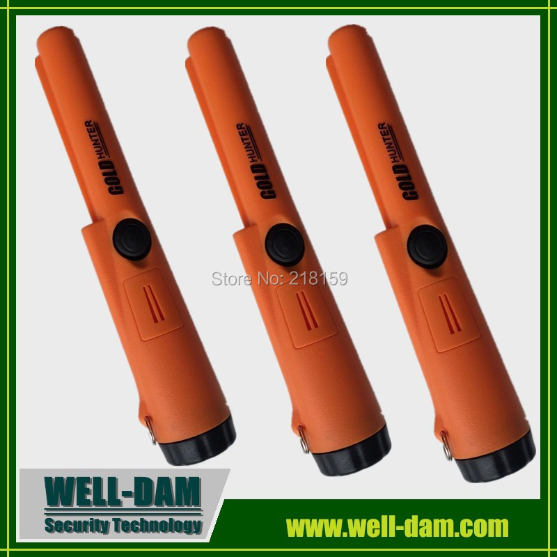 Gold Hunter AT Colorful waterproof propointer metal detector gold detector with orange color free shipping 2pcs waterproof gold detector gold hunter at propointer orange color