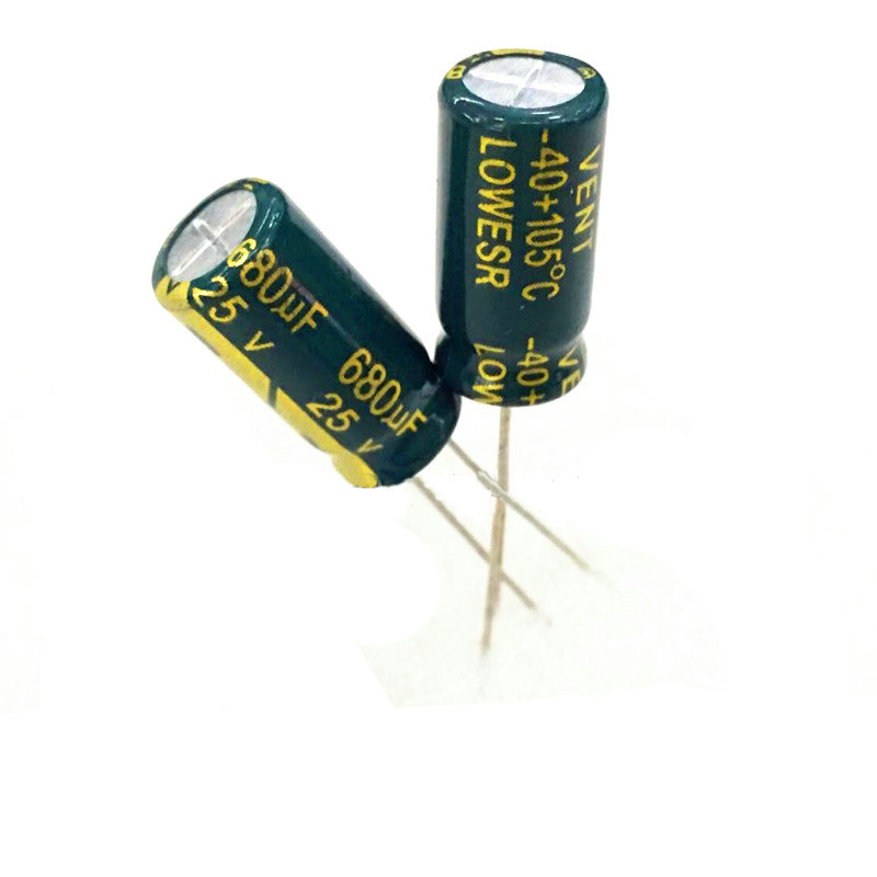 10pcs high quality 25V680UF High frequency and low resistance  Long life  high-temperature    Electrolytic capacitor 680UF 25V 10pcs high quality 25v68uf high frequency and low resistance long life electrolytic capacitor 68uf 25v 5x11