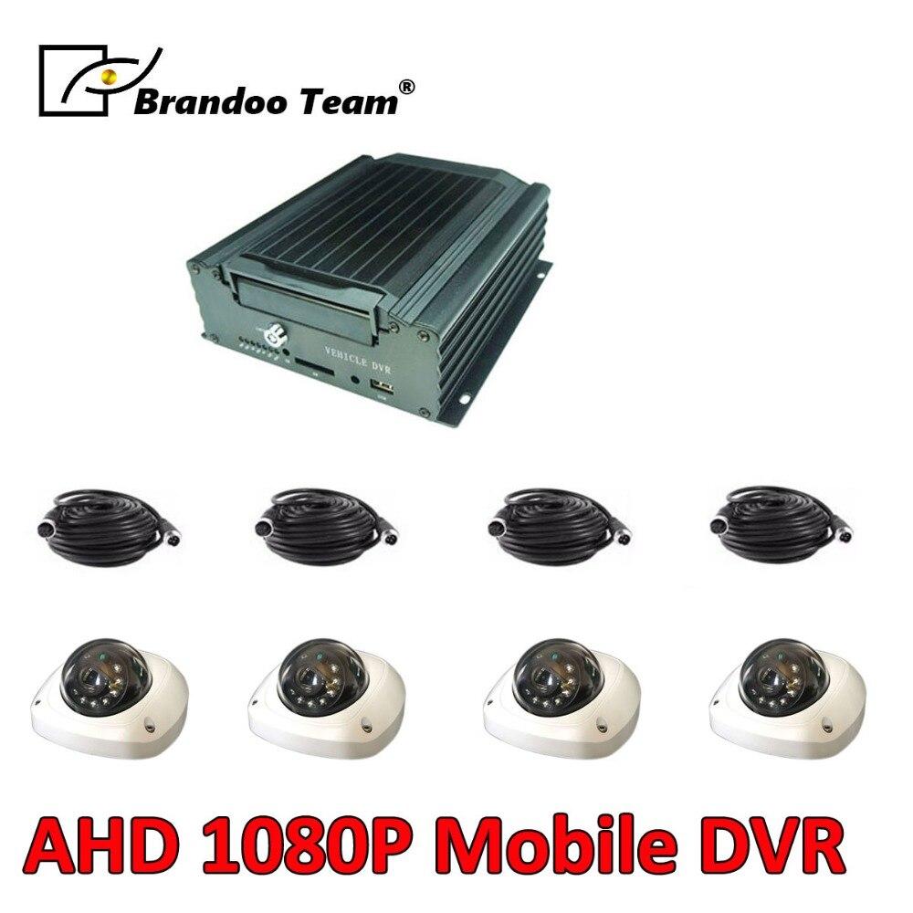 Ônibus caminhão Veículo gravador de FHD 4CH HDD MDVR sistema vista suporte online/remoto de vídeo