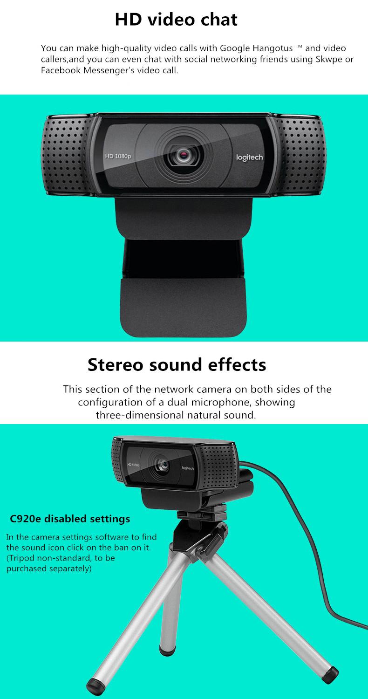 Shop New Logitech 1080p Widescreen Hd Usb Webcam For Video Calling