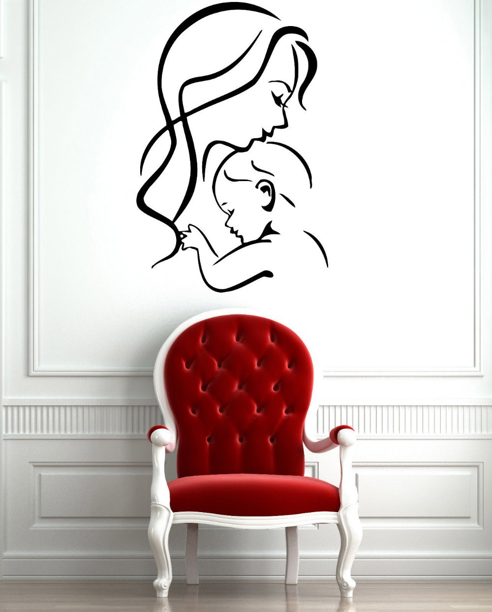 Mother And Baby Wall Stickers Home Decor Vinyl Decals Cozy