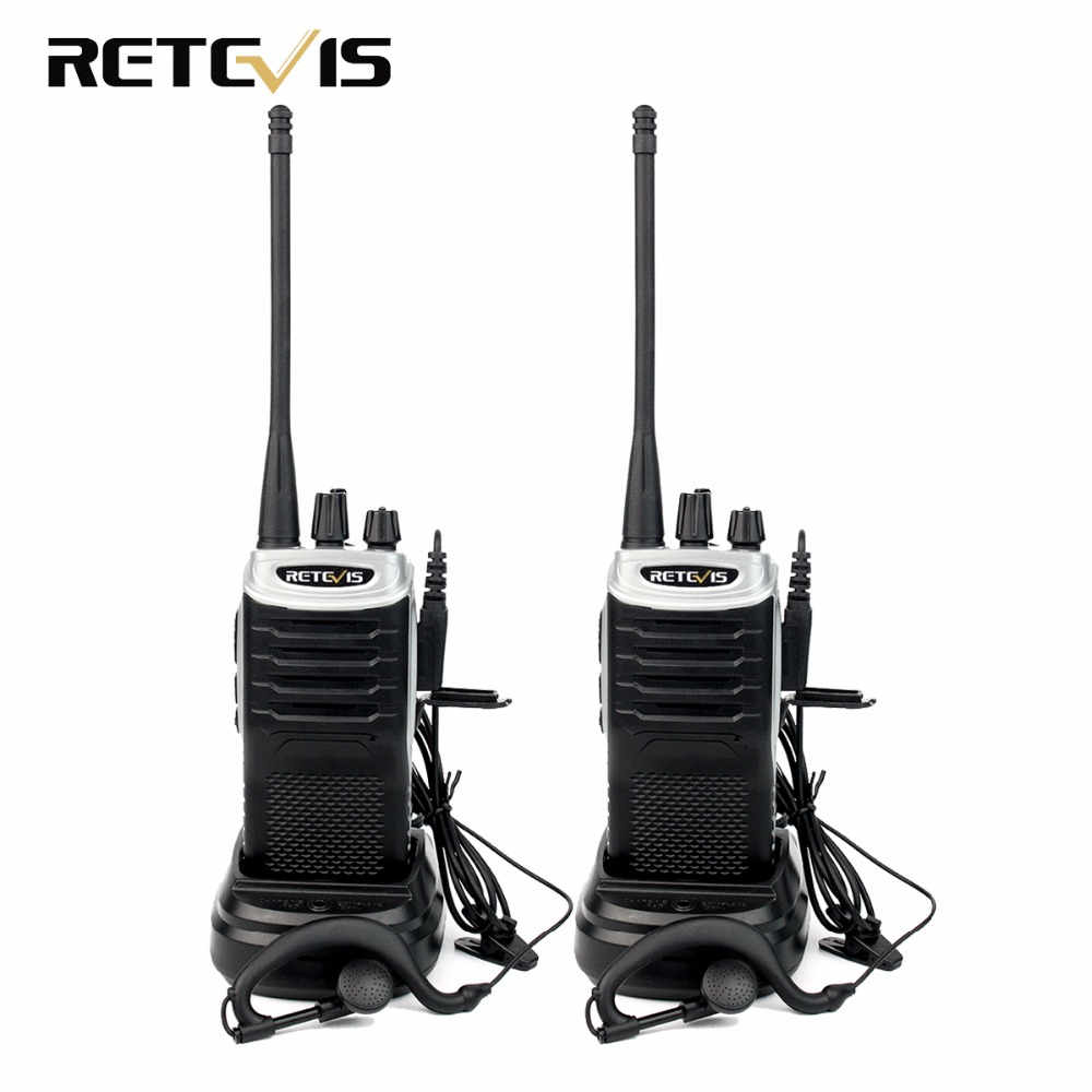 2pcs Retevis RT7 Portable Walkie Talkie 5W UHF 400 470MHz FM Radio 88 105MHz CTCSS DCS