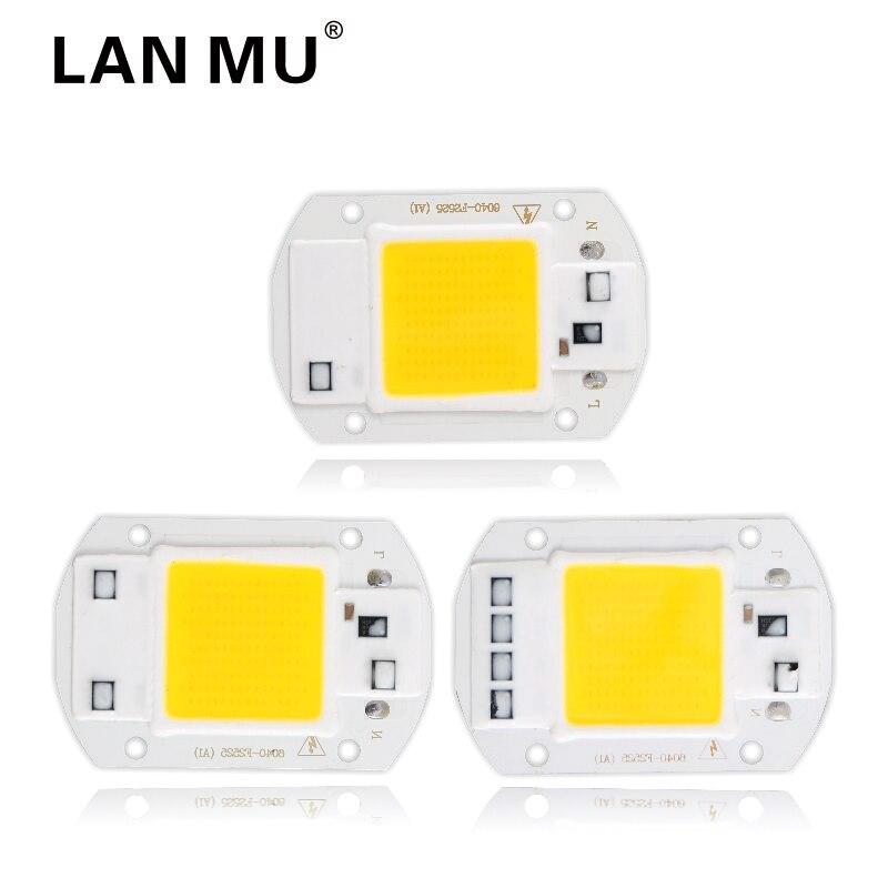 LED COB Lamp Chip 10W 20W 30W 40W 50W AC 220V 110V Smart IC Led bulb Light Chip For DIY LED Floodlight Spotlight щебень фракция 20 40 мм 50 кг