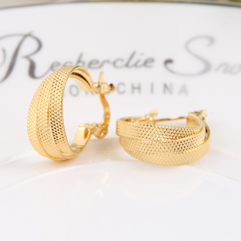 Bangrui Factory Price! 2017 New Design Gold Korea Earrings Women Gold Korean Earrings Jewelry gold earrings for women