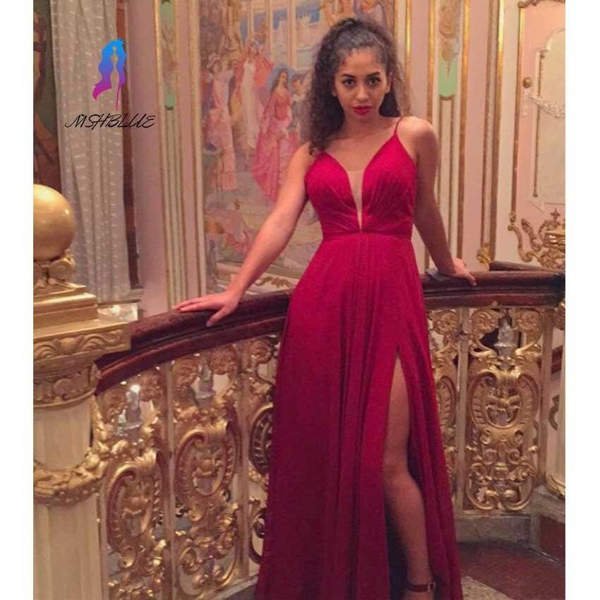 Popular Spaghetti Strap Long Red Prom Dress-Buy Cheap Spaghetti ...