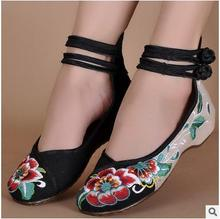 Linen Embroidered Black Chinese Women'S Shoes Leisure Women Shoe