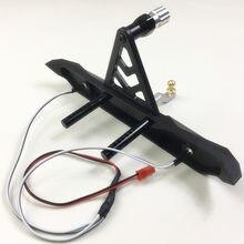 Parachoques delantero de aleación para Axial Scx10 Scx10-ll 90046 90047, incluyendo luces (kyx)