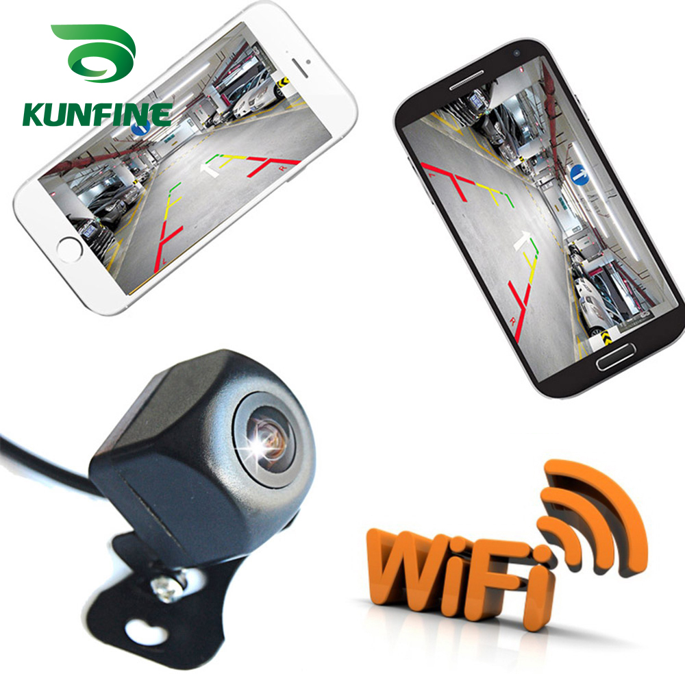 KUNFINE WIFI Reversing Camera Dash Cam Star Night Vision Car Rear View Camera Mini Body Water-proof Tachograph for iPhone and Android (1)