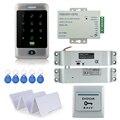 C30 toque RFID controle de acesso de metal bloqueio de senha + elétrica gota parafuso lock + 3A/12 V fonte de alimentação + botão de saída + 10 pcs chave ID cards