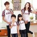 Летний стиль 2017 мода майка хлопок матери и дочери сына отец одежда сопоставления семьи одежда футболка семья посмотрите