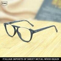 ea3dd1d894 ... gafas montura creativa de madera grano miopía ordenador mujeres hombres  Retro moda marco oculos gra. 2017 TAG Hezekiah Eyewear Frames Creative Wood  ...