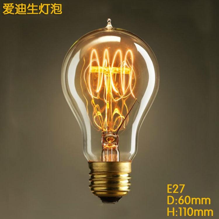 vintage a19 waterdrop bulbs edison light bulbs e27 antique light clear glass 40w edison bulb - Antique Light Bulbs