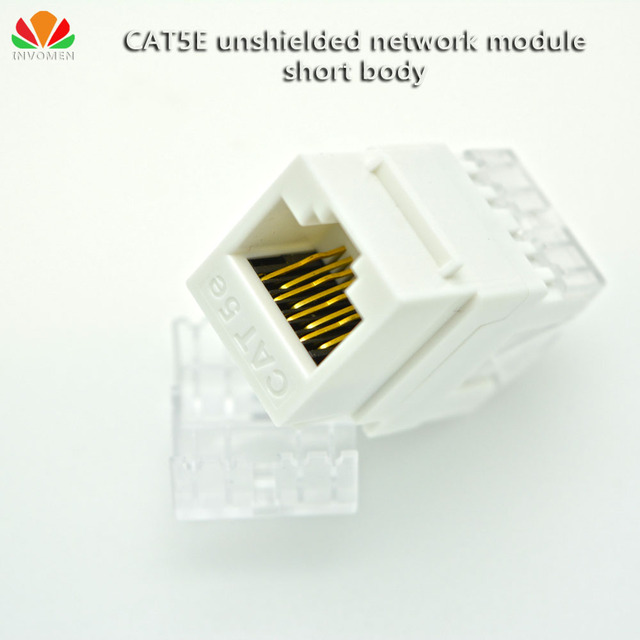 UTP CAT5E network module 180 wire short body dust proof cover RJ45 ...