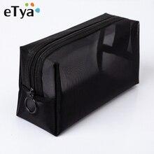 ETya, женская прозрачная косметичка, дорожная, функциональная, косметичка, на молнии, органайзер для макияжа, сумка для хранения, косметичка