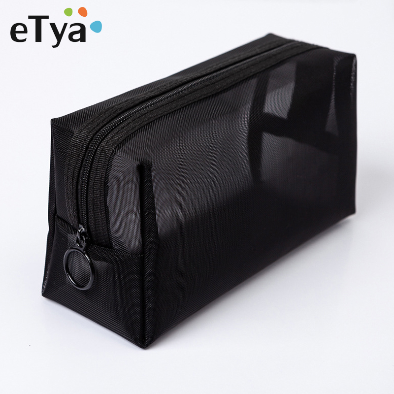 ETya Women Transparent Cosmetic Bag Travel Function Makeup Case Zipper Make Up Organizer Storage Pouch Toiletry Beauty Wash Bag