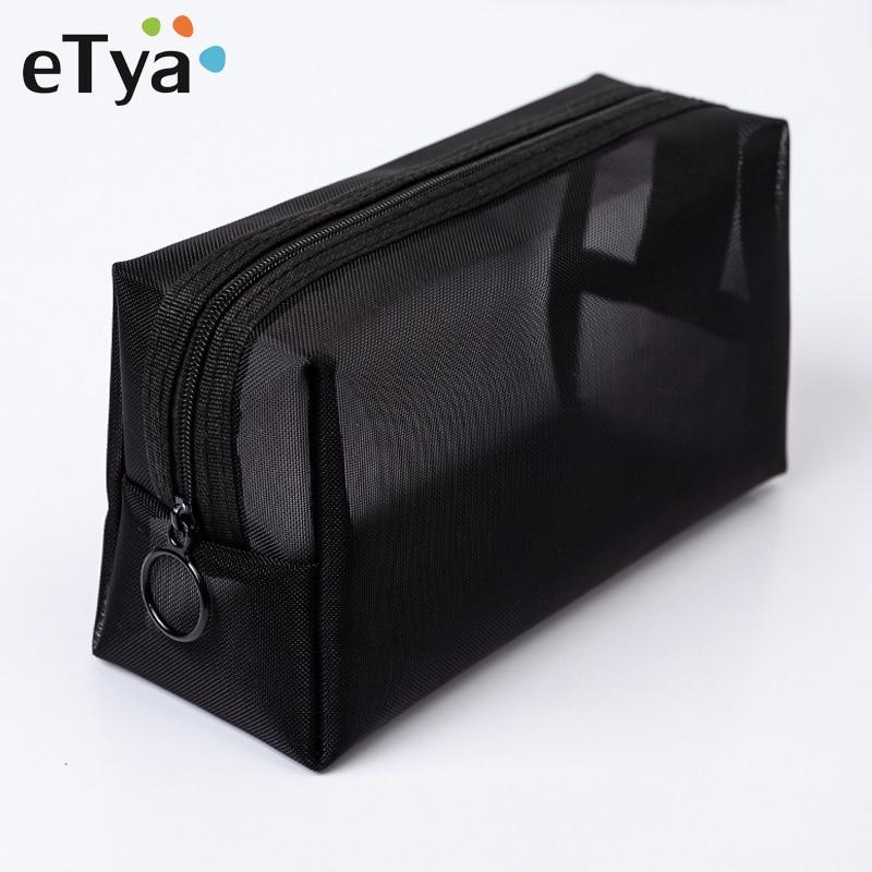 ETya Women Transparent Cosmetic Bag Travel Function Makeup Case Zipper Make Up Organizer Storage Pouch Toiletry Beauty Wash Bag