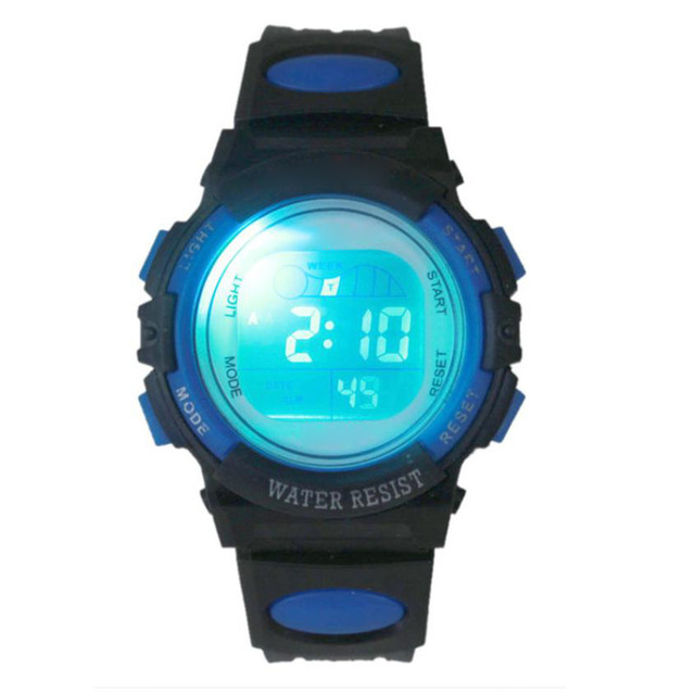 Boy Girl Alarm Date Digital Multifunction Sport LED Light Wrist Watch Silicone S