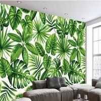 3D Photo Custom Wallpaper Living Room Rainforest Plant Banana Leaves Wall Mural Home Decor Wallpaper Sofa TV Background