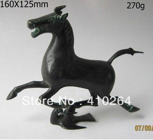 Gratuite Rare Exquis Vieux bronze Chinois statue cheval volez Chiffres d'hirondelle discount 30%