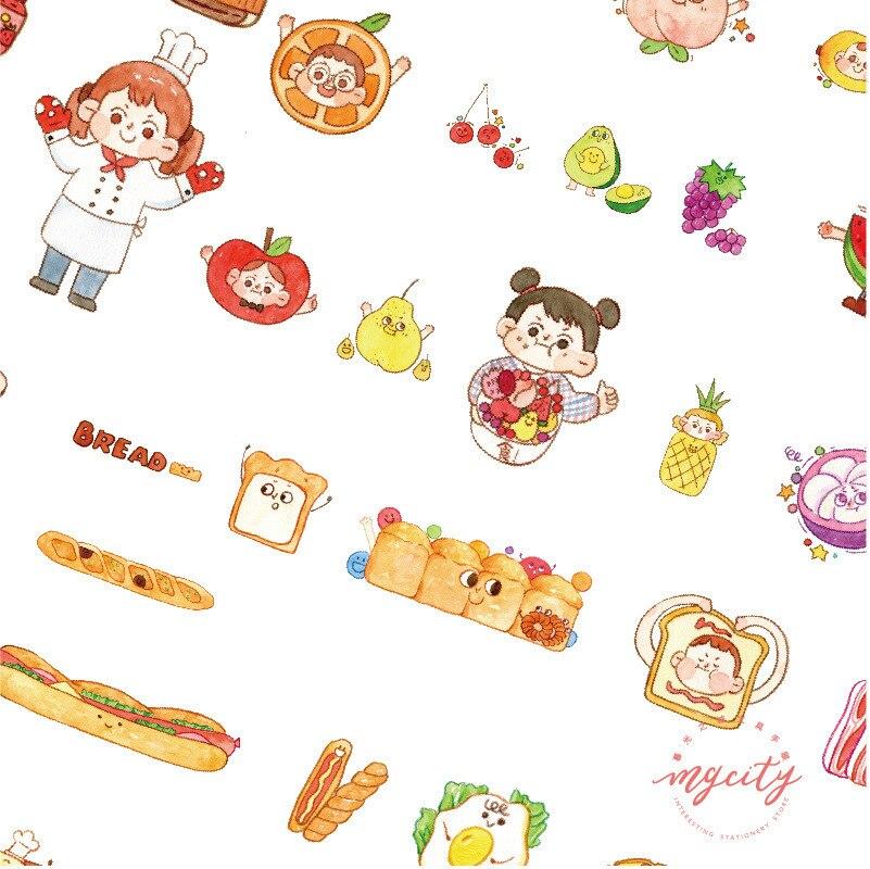 Купить с кэшбэком Snack Spree Series Washi Paper Sticker Pack Diary notebook DIY Decorative Stickers