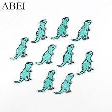 10 adet/grup karikatür dinozor yamalar demir on hayvanlar için aplike çocuk erkek kot dikiş giyim Motif rozet kendin yap çıkartmalar Logo
