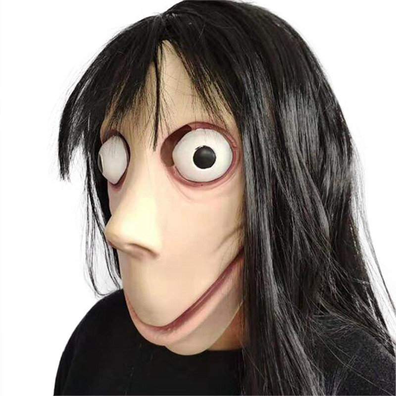Horror Momo Mask Hacking Challenge Game bird beak Latex Mask grimace hood easter mask Halloween makeup costume props