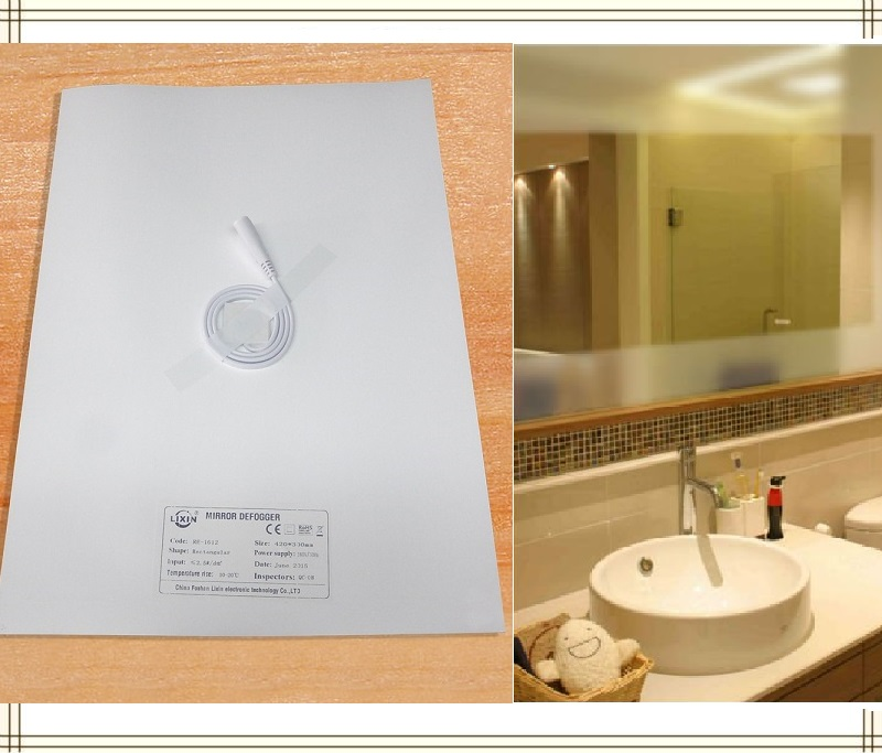 New Mirrors Heating Pad, Mirror Defogger Pad,Bathroom Heater Mat LED Mirror Heating Film Systems Supply For Home And Hotels