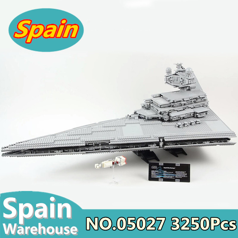 07043 05027 05028 05007 Millennium Falcon The Shield Helicarrier Star Destroyer Building Blocks Toys Gift Star