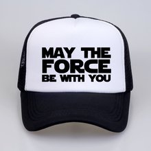 Star Wars Men/Women Fashion Baseball Cap MAY THE FORCE BE WITH YOU print letter hats summer Mesh Net Trucker Dad Hat