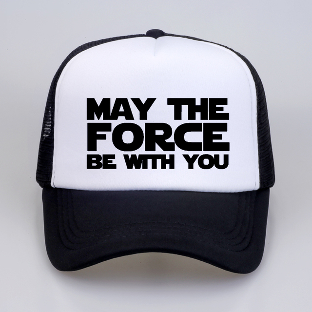 758c9b965cd80 Star Wars Men Women Fashion Baseball Cap MAY THE FORCE BE WITH YOU print  letter