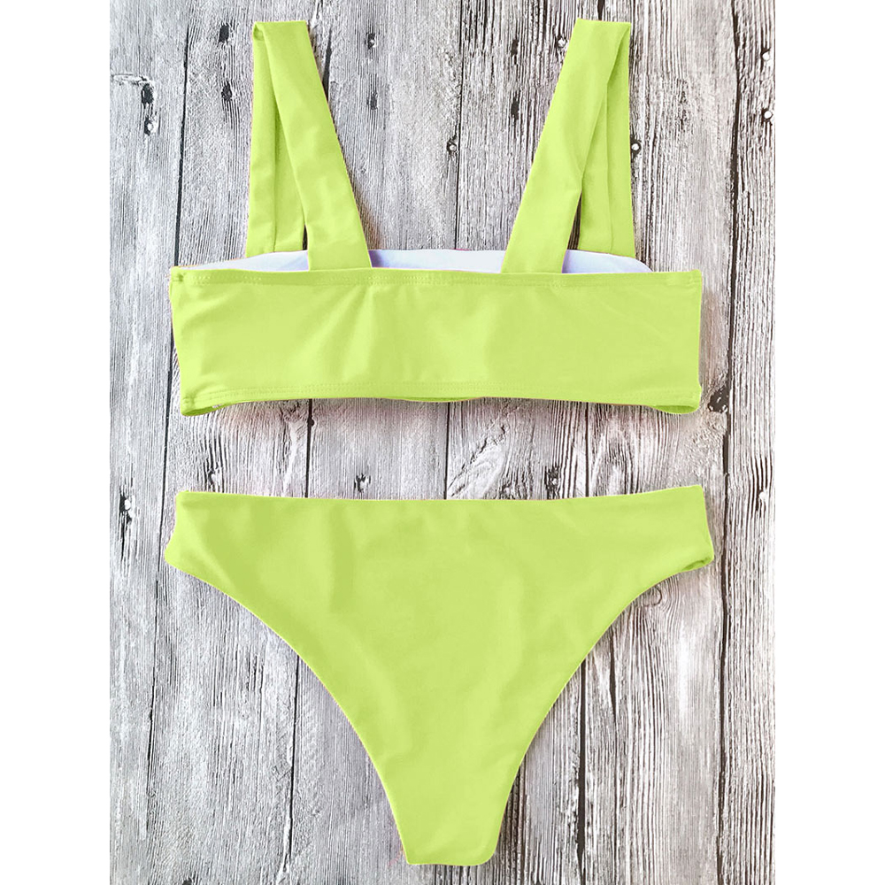 899886f190 Support Type: Wire Free Neckline: Square Pattern Type: Solid Waist: Low  Waisted Elasticity: Elastic Weight: 0.2000kg. Package Contents: 1 x Top 1 x  Bottoms