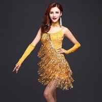 여성 드레스 라틴어 댄스 드레스 장식 조각