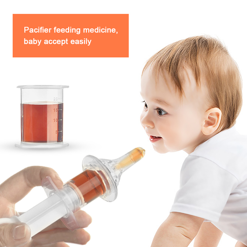 High Quality Baby Squeeze Medicine Dropper Dispenser Silicone Transparent Baby Pacifier Needle Feeder Feeding Juice Milk Tools