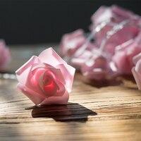 35Led Peri Güzel Pembe Gül Çiçek Lamba Pil Işletilen Dize Işıkları Noel Çelenk Yeni Yıl Için 5 m LED Dekor gerlyanda