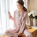 Venta caliente Camisa Larga Pijamas Camisón de Las Mujeres ropa de Dormir Pijamas de la Nueva llegada Conjunto Femenino Ropa de Casa de Verano En Casa de Primavera desgaste