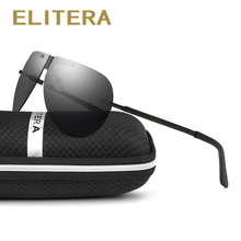 ELITERA Brand Classic Foldable Polarized sunglasses Men Driving Pilot Frame Eyewear Male Sun Glasses for men Oculos Gafas