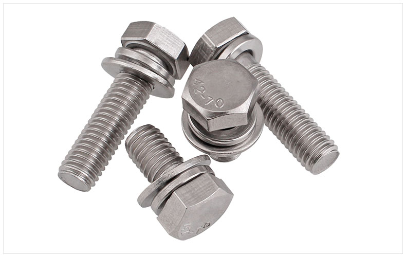 GB9074 304 stainless steel screws external hex screws trimming M4 M5 M6 M8 M10 screws Three combination screws M5 bolts free shipping iso7380 304 stainless steel round head screw m3 m4 m5 m6 screws hex socket screw three combination 2018 hot