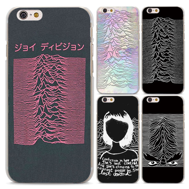 aadaae56f3 joy division unknown pleasures design transparent clear Case Cover for  Apple iPhone 7 7Plus 8 8Plus 6 6s Plus SE 5 5S