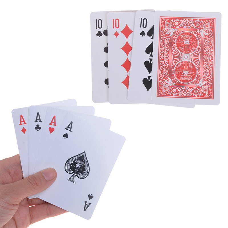High Quality 1set(4pcs Card) Magic Tricks 10 Transformer To A Card Magic Props 10 Change A Magic Sets Close Up Street Card
