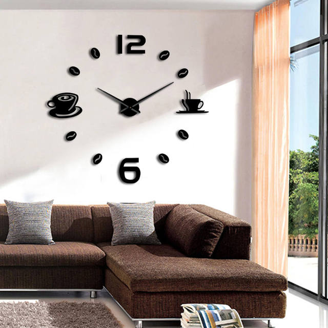 Am billigsten Mode Uhren Ankunft Quarz Wanduhren 3D DIY Große ...