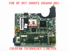 Original 605698-001 FOR HP DV7 DV7T DV7-3000 Laptop Motherboard DA0UP6MB6F0 Mainboard 90Days Warranty 100% tested