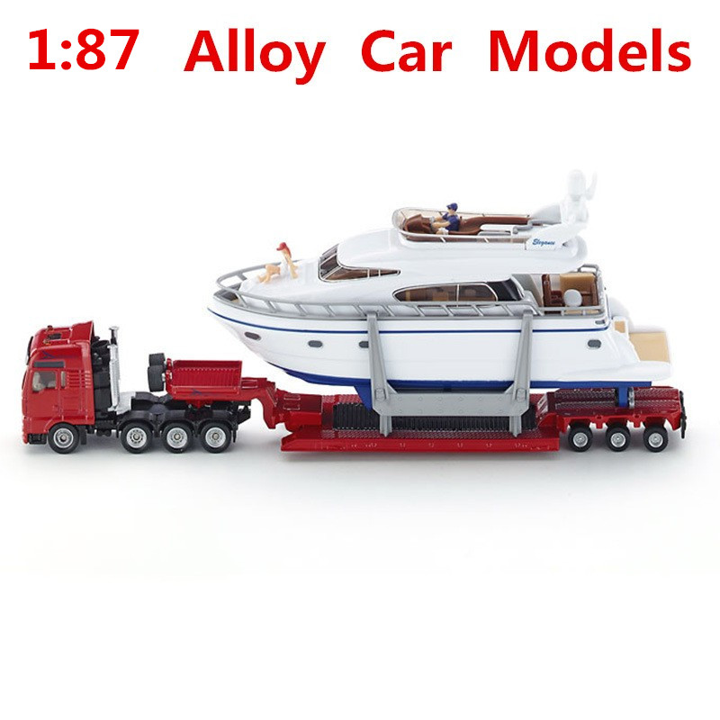 1:87 alloy car models, with high simulation truck yacht SIKU-U1849 model, metal diecasts, toy vehicles, free shipping все цены