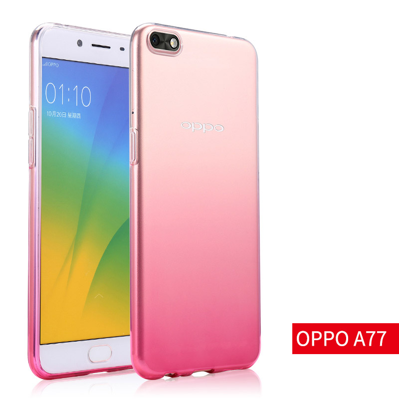 reputable site d3df5 68b00 US $5.99 5% OFF|OPPO A77 soft case transparent color gradient cover 5.5