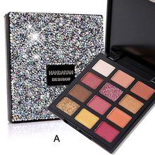 HANDAIYAN 1Pc Beauty Makeup Palette Highly Pigmented Glitter Palette Paleta De Sombra 12 Color Matte Shimmer Eyeshadow Palette