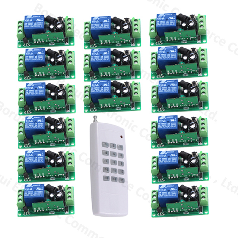 High Quality New 12V 10A 1 Channel Wireless Relay Switch Remote Control Switch RF 315MHz/433Mhz high quality dc 12v 10a 1 channel wireless control rf 200m long range remote control 4pcs 315mhz switch sku 5367