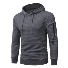 YDTOMM 2019 New high-end Fashion men casual Style Hood zips Sleeve with single Solid Color long sleeve men's Long Sleeve 3xl casual women s satchel with zips and solid color design