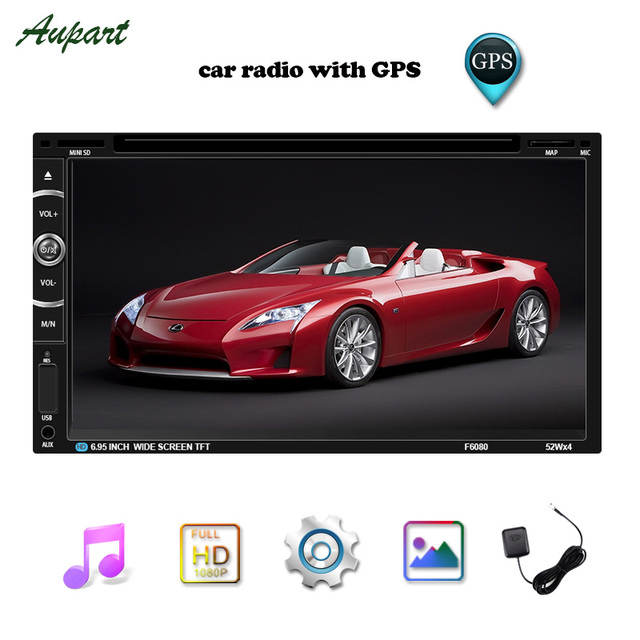 Double Din Car Radio Subwoofer GPS Navigation Car Multimedia DVD Player 7 inch Touch Screen Car MP4 & MP5 Player