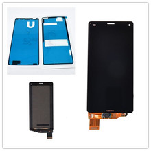 4.6 inch black For Sony Xperia Z3 compact LCD Display Z3 mini LCD D5803 D5833 touch screen digitizer Assembly + Adhesive все цены